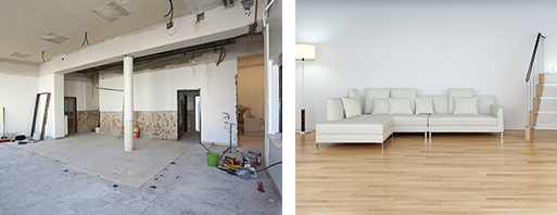 Basement / Cellar conversion before-after